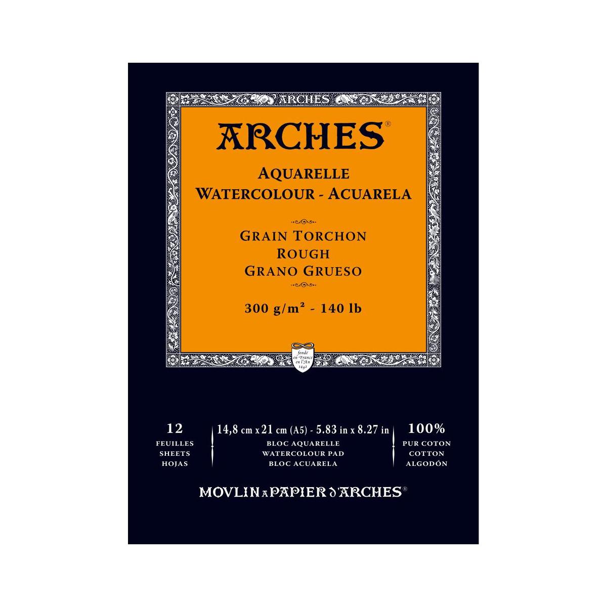 BLOC ARCHES A5 300 GR GRANO...