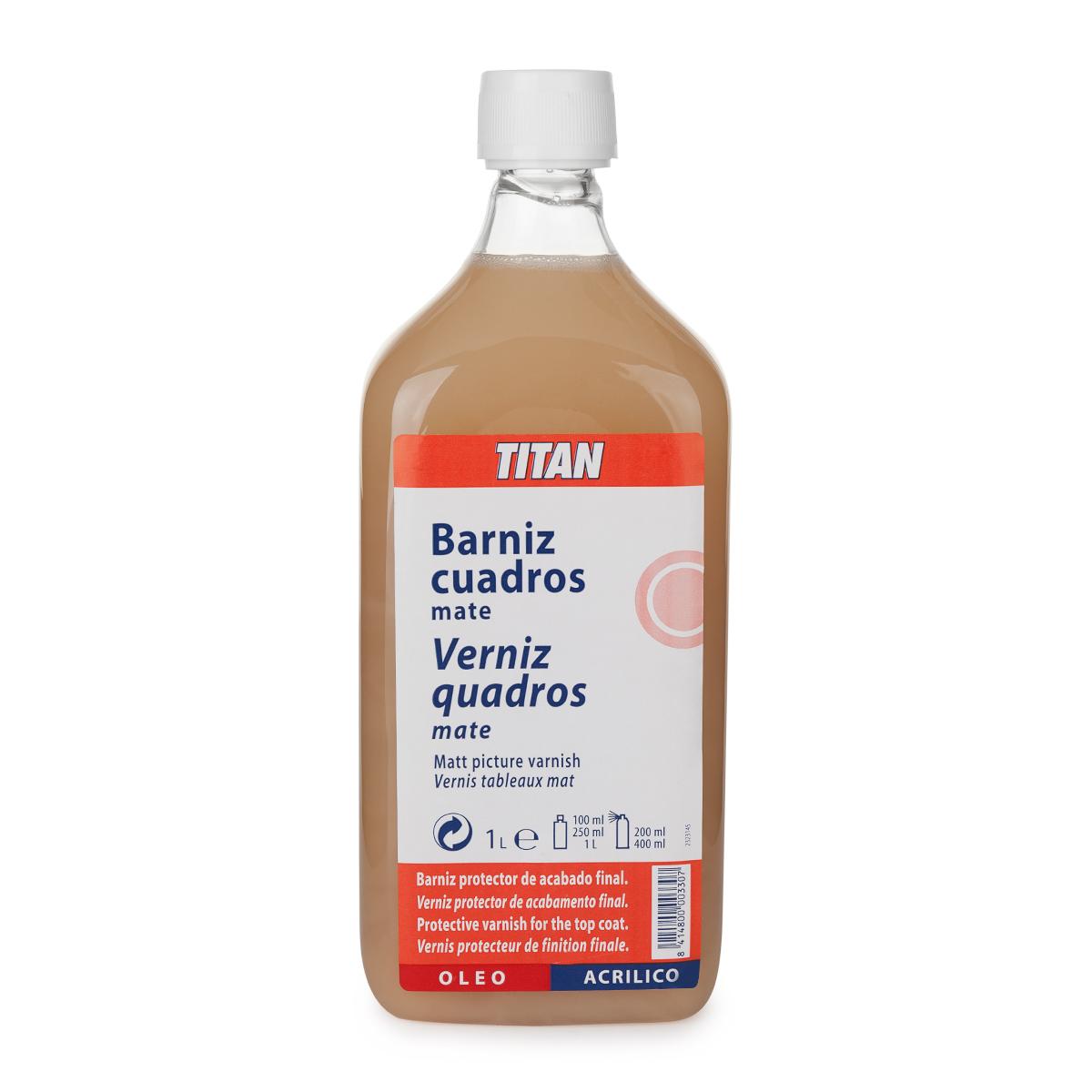 BARNIZ CUADROS MATE TITAN 1L