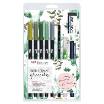 WATERCOLORING SET GREENERY...