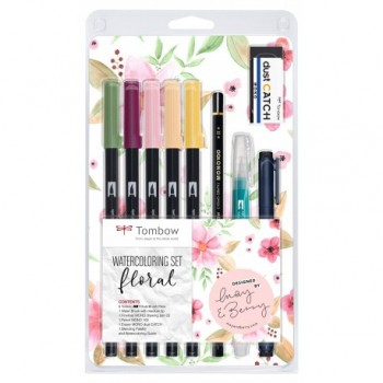 WATERCOLORING SET FLORAL...