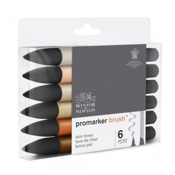 SET 6 UDS PROMARKER BRUSH...